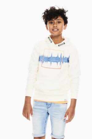 hoodie met printopdruk offwhite