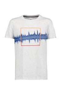 Garcia T-shirt met printopdruk offwhite, Offwhite