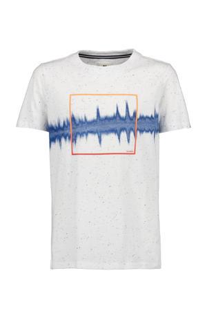 T-shirt met printopdruk offwhite