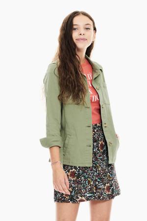 zomerjas met printopdruk groen