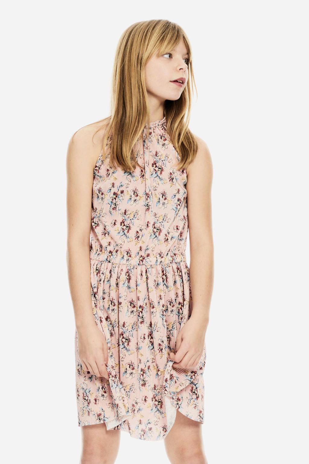 Garcia gebloemde halter jurk lichtroze/multicolor
