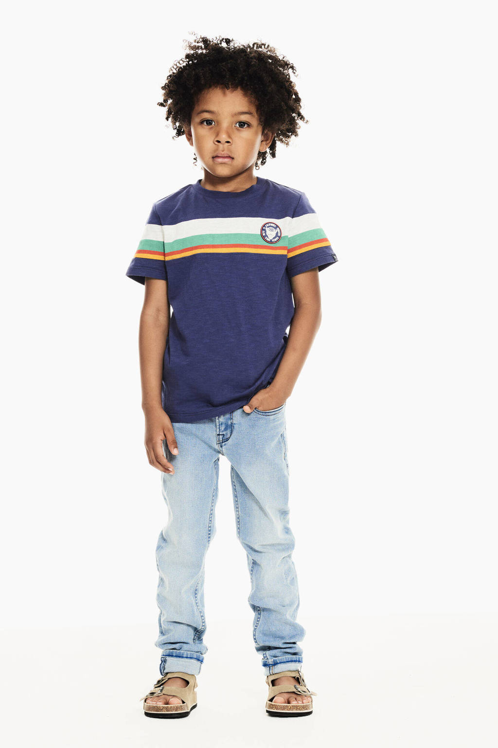 Garcia T-shirt donkerblauw/multicolor, Donkerblauw/multicolor