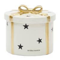 Riviera Maison kerstdecoratie keramieken box, 17x17x15