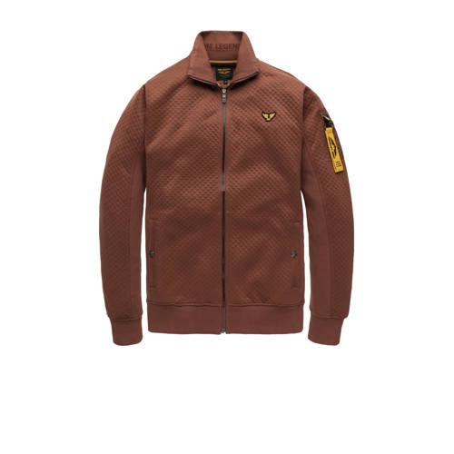 PME Legend vest Taxes Ash met textuur bruin
