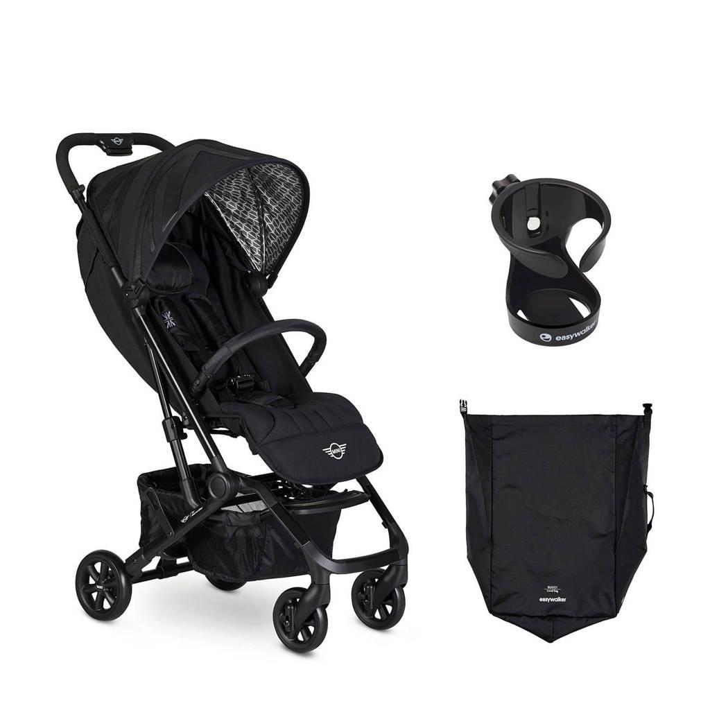 Easywalker MINI by Easywalker buggy XS Oxford Black + gratis transporttas en cupholder, Zwart