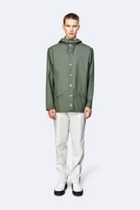 Rains regenjas model 1201 Short Hooded Coat olijfgroen, Olijfgroen