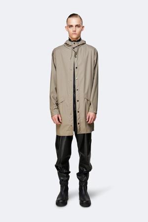 regenjas model 1202 Long Hooded Jacket taupe
