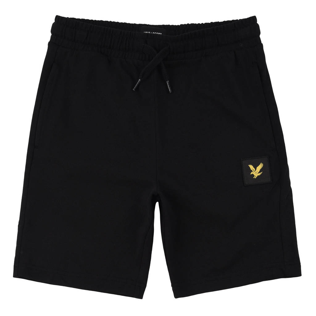 Lyle & Scott regular fit korte broek zwart, Zwart