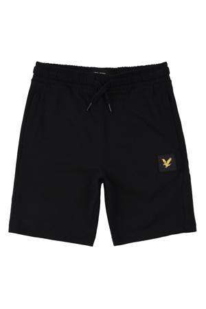 regular fit korte broek zwart