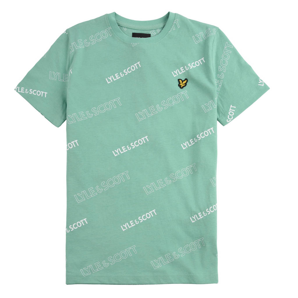 Lyle & Scott T-shirt met logo groen, Groen
