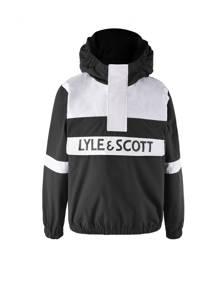 Lyle & Scott anorak zomerjas zwart/wit, Zwart/wit