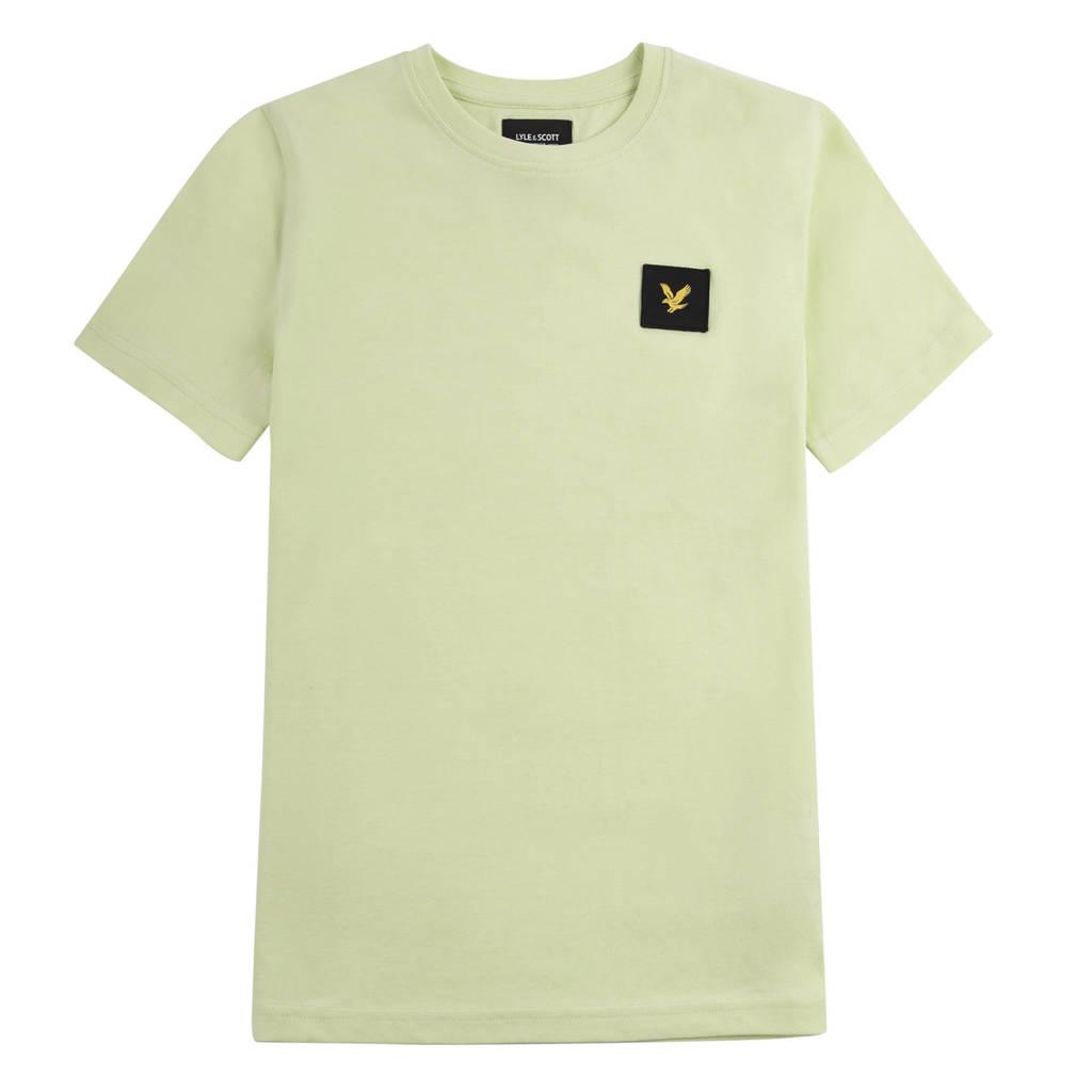 Lyle & Scott T-shirt licht limegroen