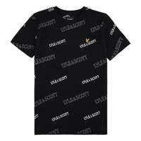 Lyle & Scott T-shirt met logo zwart, Zwart