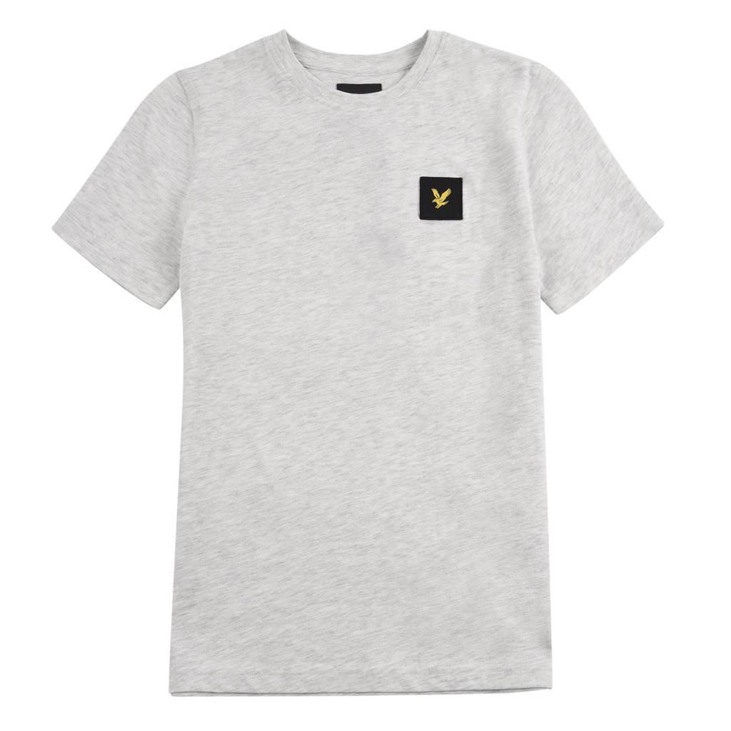 Lyle & Scott gemêleerd T-shirt grijs melange, Grijs melange