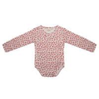 Little Indians newborn baby romper lange mouwen - Leopard, Roze/wit