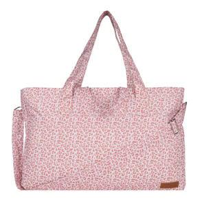 luiertas met panterprint roze