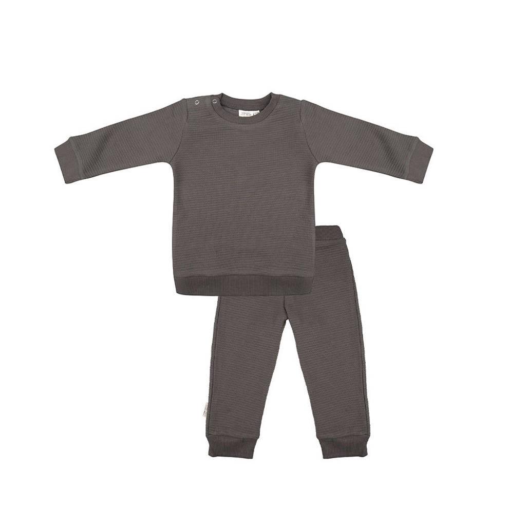 Little Indians   pyjama met structuur donker olijfgroen, Donker olijfgroen