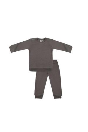 pyjama met structuur donker olijfgroen