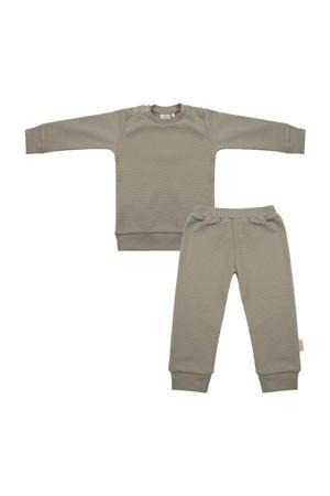 pyjama met structuur grijsgroen
