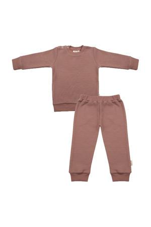 pyjama met structuur oudroze