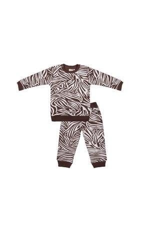 pyjama zebraprint bruin/wit