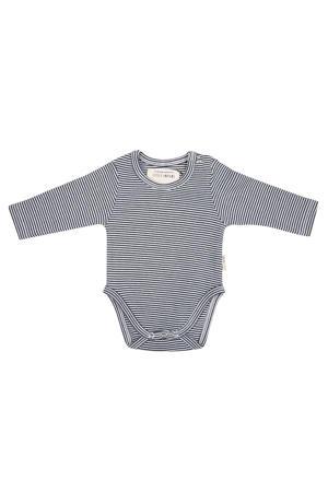 newborn baby romper lange mouwen - Small Stripe