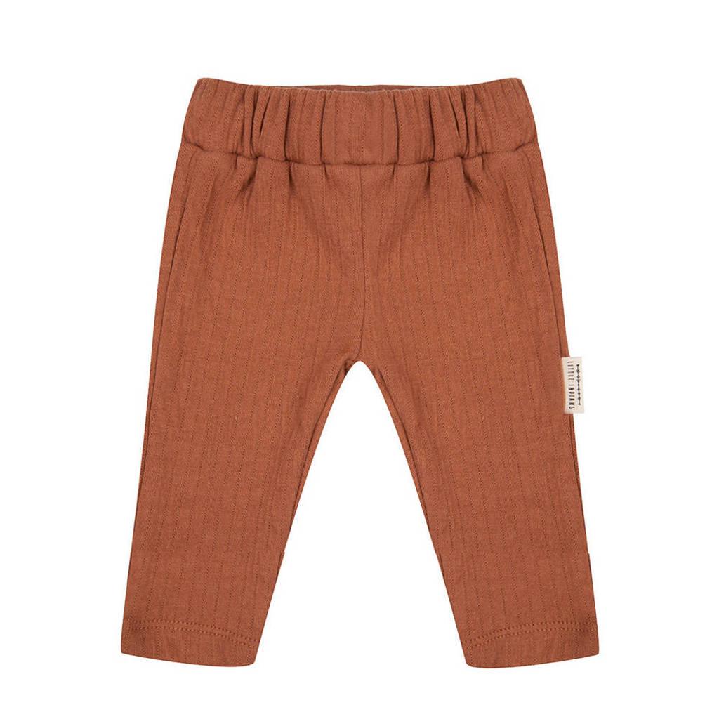 Little Indians baby slim fit broek bruin, Bruin