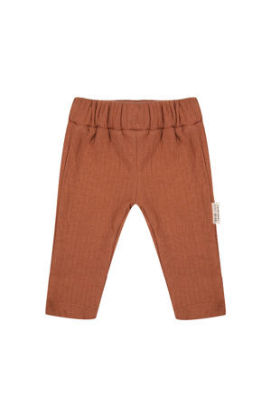 baby slim fit broek bruin