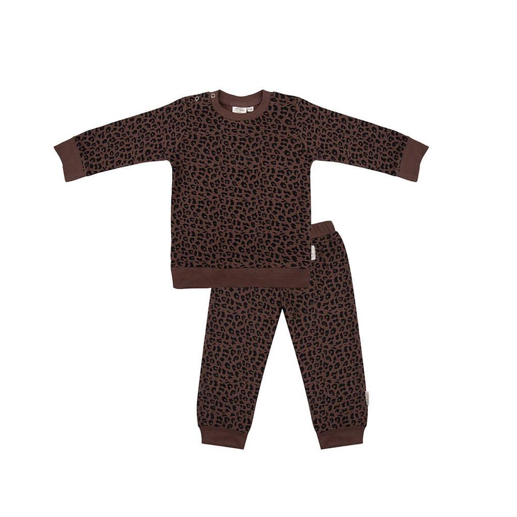 Little Indians   pyjama panterprint bruin/zwart, Bruin/zwart