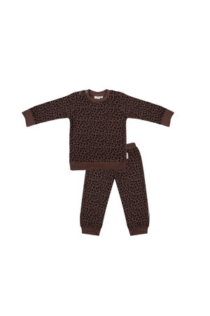 pyjama panterprint bruin/zwart