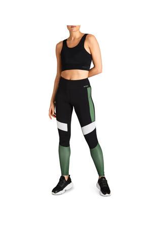 sportbroek zwart/wit/groen