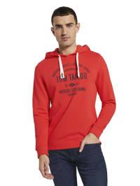 Tom Tailor hoodie met logo rood, Rood