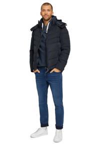 Tom Tailor gemêleerde hoodie donkerblauw, Donkerblauw