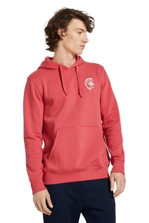 hoodie rood melange
