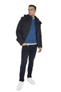 Tom Tailor gemêleerde fijngebreide trui blauw, Blauw