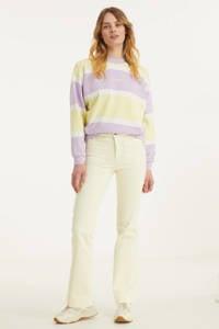 Wrangler high waist flared jeans ecru, Ecru