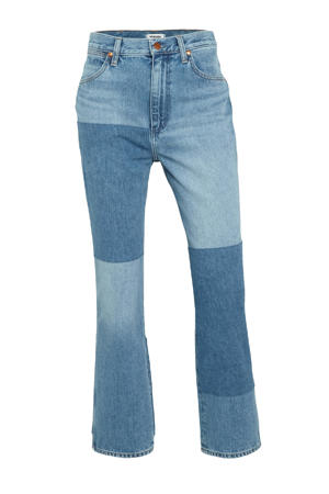 high waist straight fit jeans Wild west mid blue