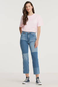 Wrangler high waist straight fit jeans Wild west mid blue, Summer Lovin