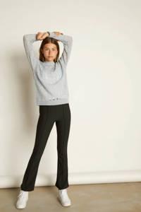 LMTD bootcut broek Dusie met zijstreep zwart, Zwart