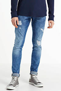 GABBIANO skinny jeans Ultimo Blue destroyed, Blue destroyed