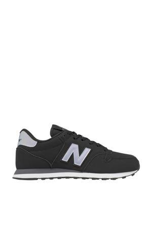 500  sneakers zwart/zilver metallic