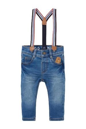 regular fit jeans met patches blauw