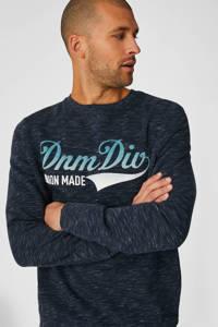 C&A Angelo Litrico sweater met tekst donkerblauw, Donkerblauw