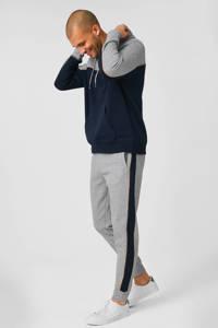 C&A Angelo Litrico slim fit joggingbroek met zijstreep grijs, Grijs