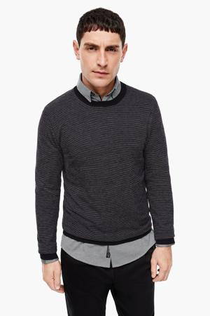gemêleerde trui met wol zwart