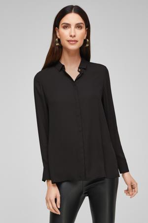 semi-transparante blouse zwart
