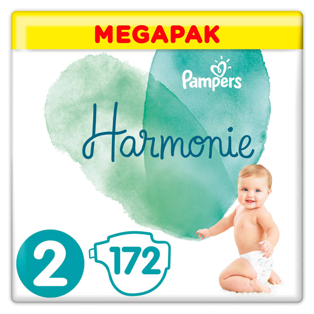 Pampers Harmonie Harmonie Megapack Maat 2 (4-8kg) 172 luiers, 2 (4-8 kg)