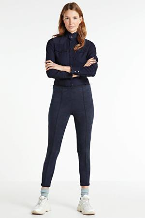 cropped broek donkerblauw