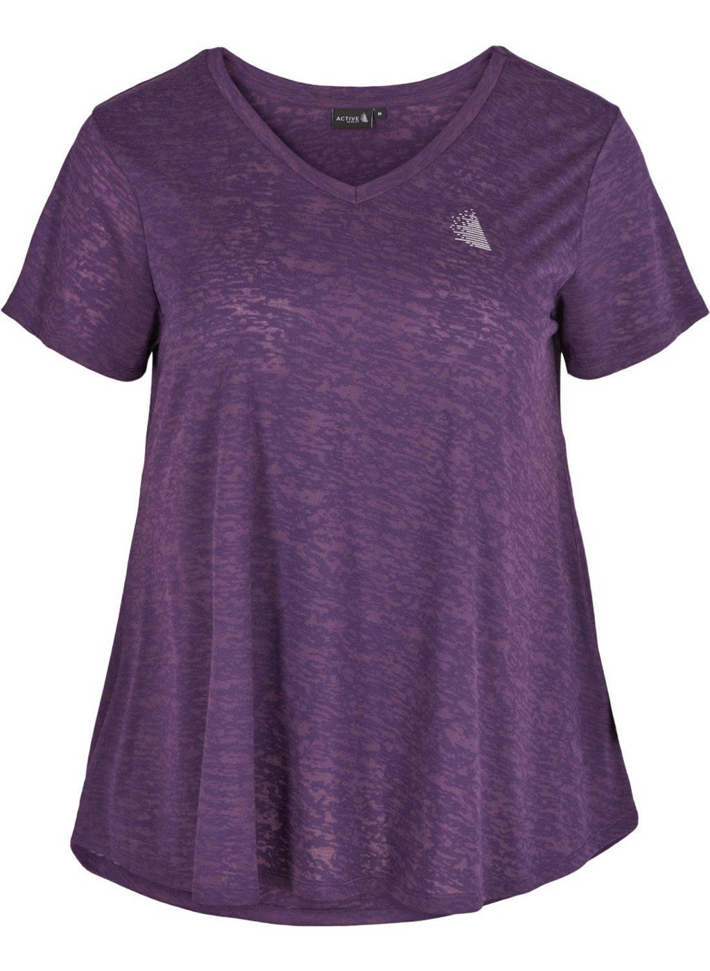ACTIVE By Zizzi Plus Size sport T-shirt paars, Paars