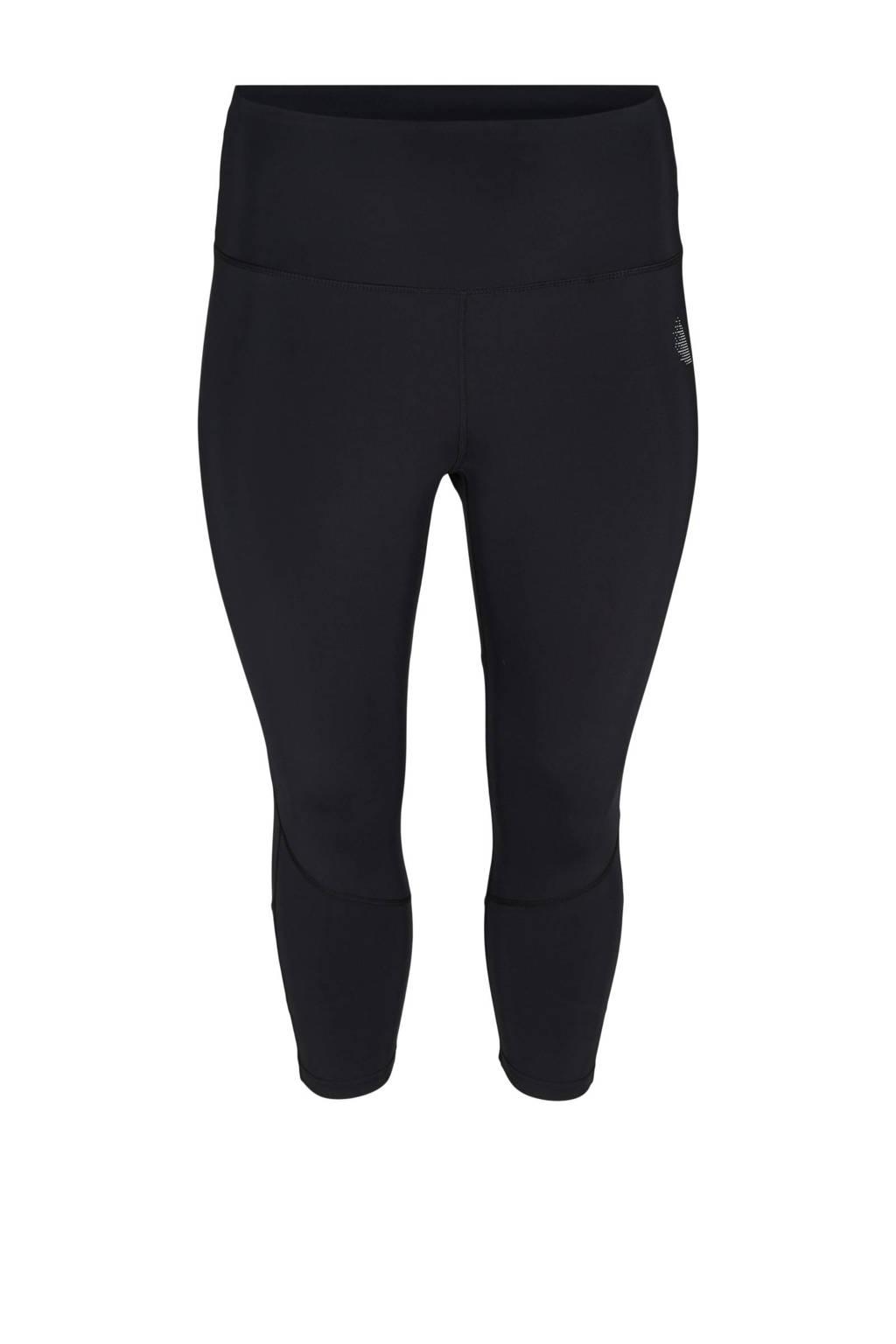 ACTIVE By Zizzi Plus Size sportcapri zwart, Zwart